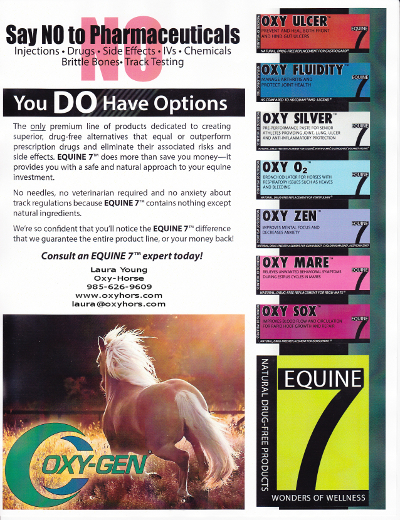 Equine 7 Natural Drug Free Supplements Oxy Ulcer, Oxy Fluidity, Oxy Silver, Oxy O2, Oxy Zen, Oxy Mare and Oxy Sox