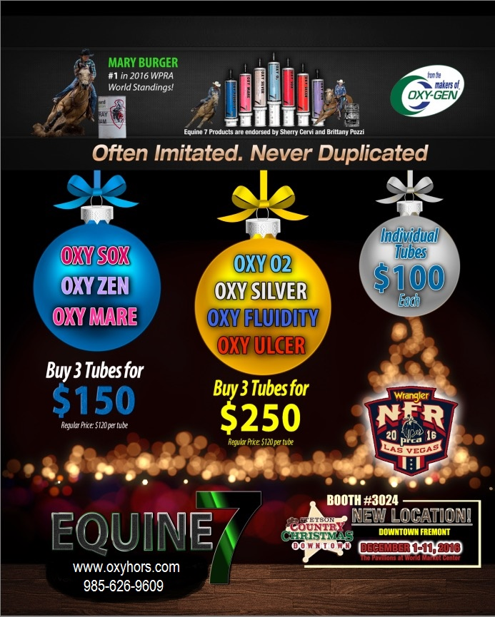 Special Price Equine 7 from OxyGen; Sox, Ulcer, Mare, Fluidity, Zen, Silver, O2