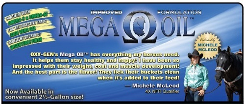 Mega Oil for horses from Oxy-Gen now available with aloe vera