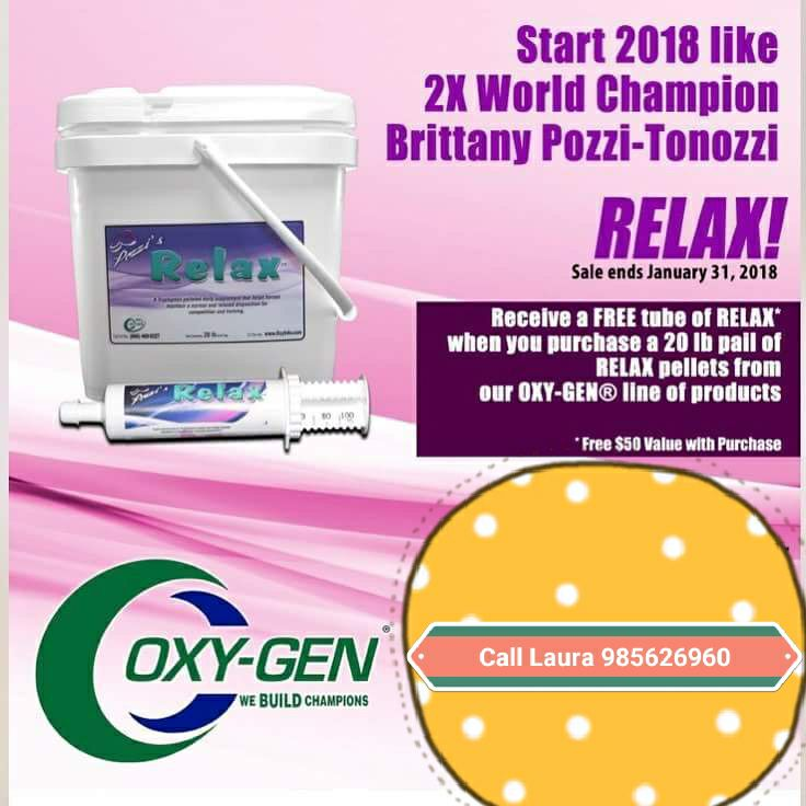January Special - Free Pozzi Relax from Oxy-Gen